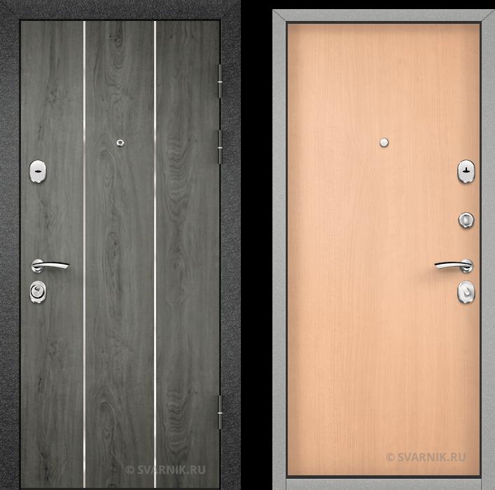 Дверь железная утепленная уличная МДФ - ламинат